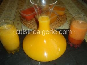 Jus maison 3 en 1 (Oranges, Fraises et Bananes)
