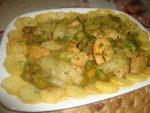 Ragoût de fenouils, olives et blanc de poulet