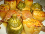 Petits légumes farcis au four