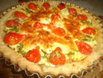 Quiche à la tomate poire