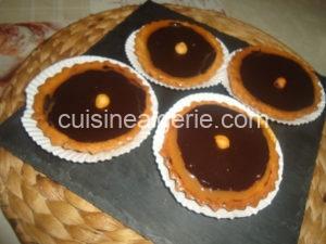 Tartelettes au toffee et ganache au chocolat